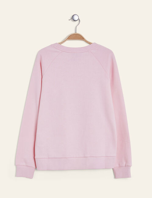 Light pink print sweatshirt
