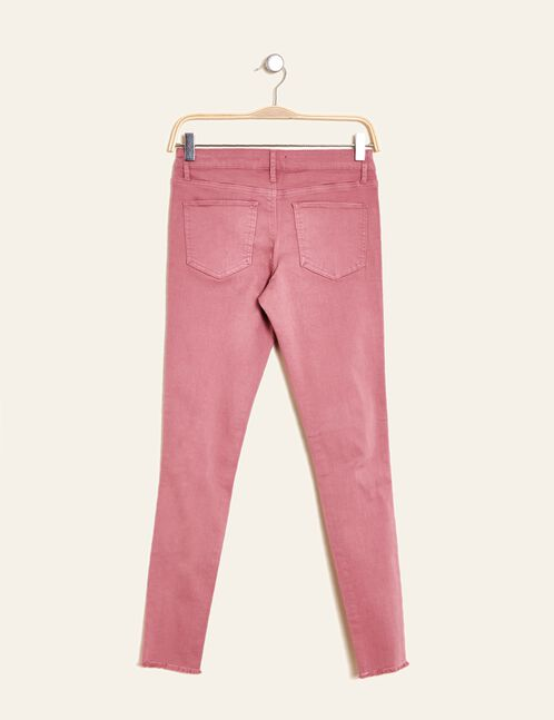 Antique pink distressed skinny trousers
