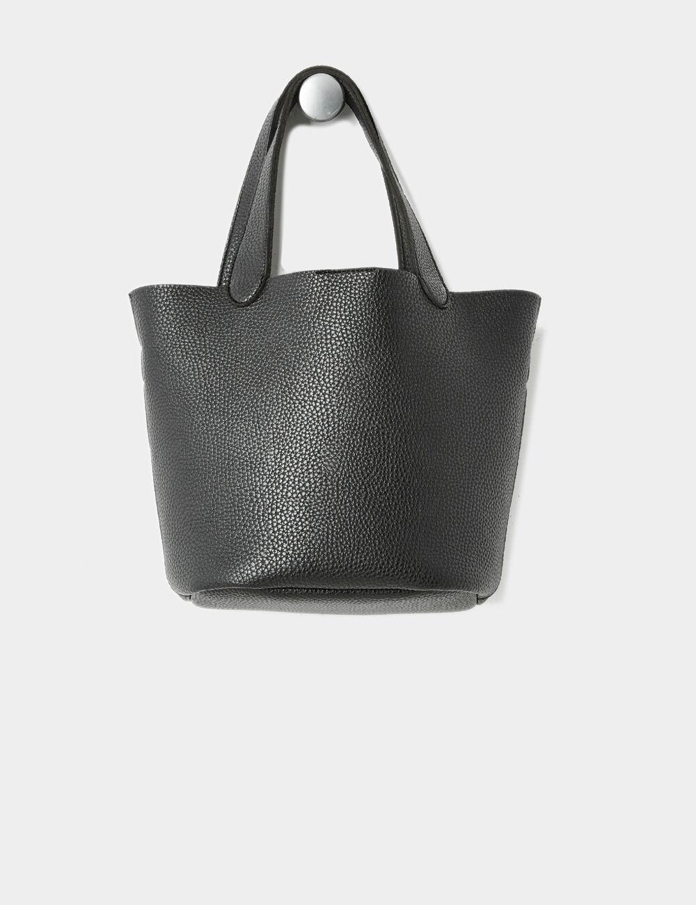 sac main avec bandouli re noir femme jennyfer. Black Bedroom Furniture Sets. Home Design Ideas