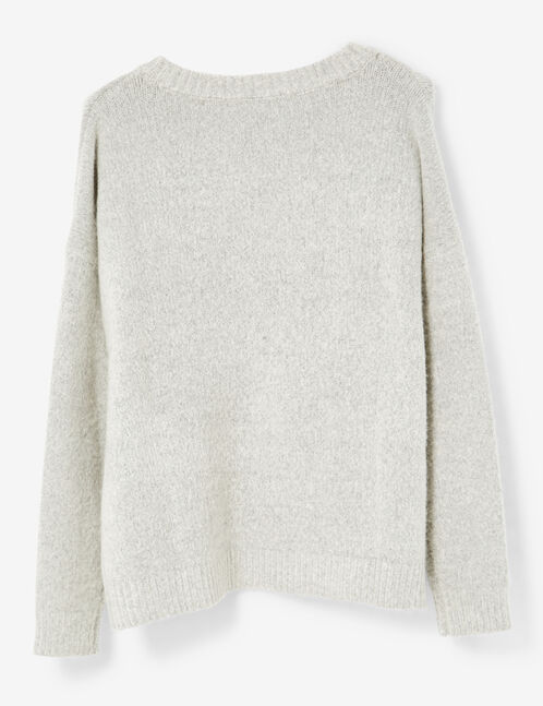 Grey marl jumper with lacing detail
