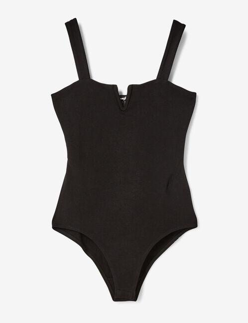 body détail en v noir