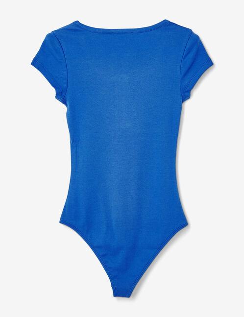 Basic blue bodysuit