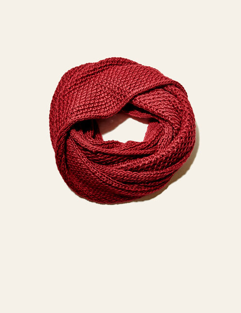Burgundy oversized snood