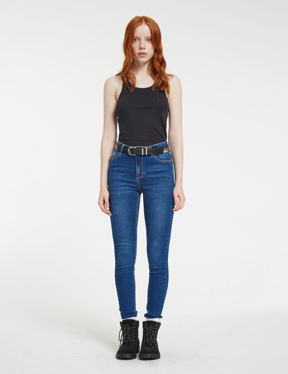 jean femme taille haute slim mode jeans taille haute skinny jeans extensible femmes pantalon. Black Bedroom Furniture Sets. Home Design Ideas