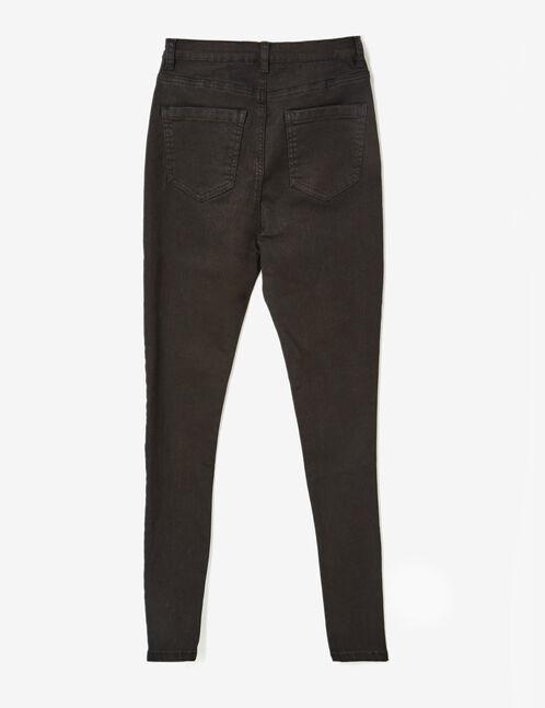 Black skinny printed trousers