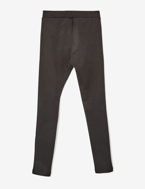 Black jeggings with decorative zip detail