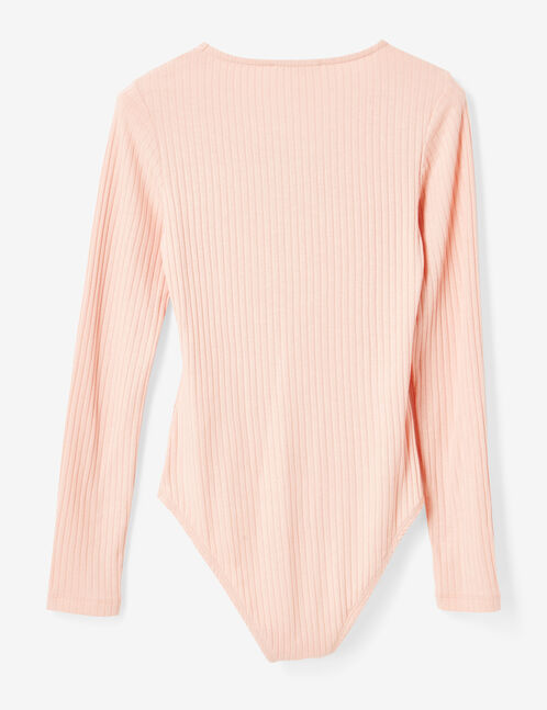 Light pink bodysuit with strap detail