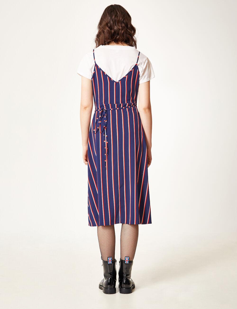 robe portefeuille ray e bleu marine rouge et blanche. Black Bedroom Furniture Sets. Home Design Ideas