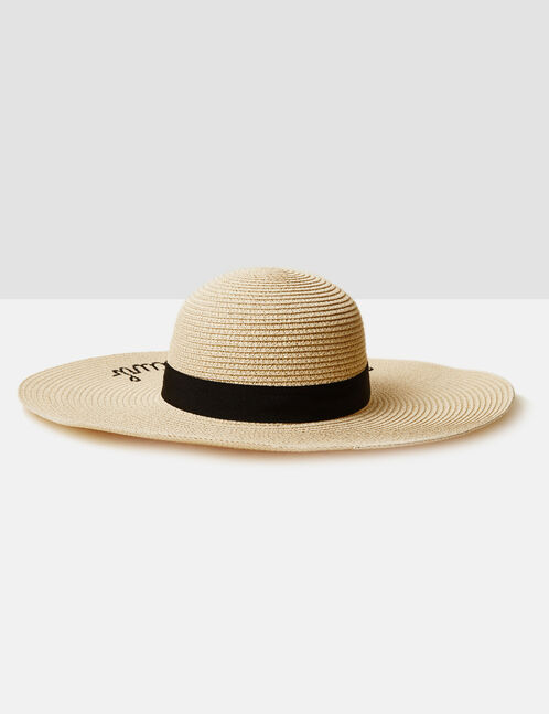 chapeau en paille beige