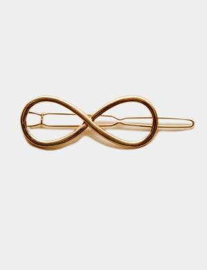 pince à cheveux infini dorée