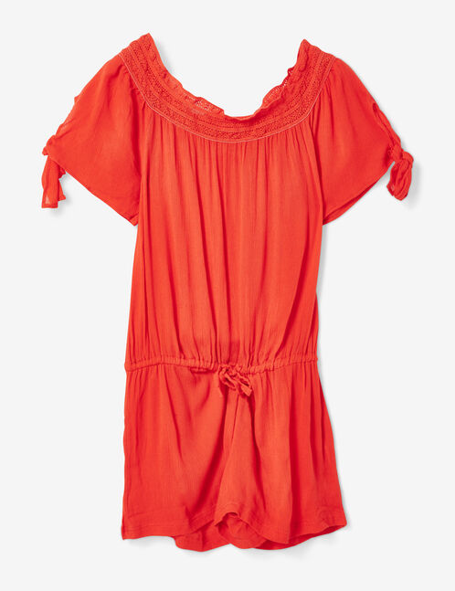 Red beach playsuit