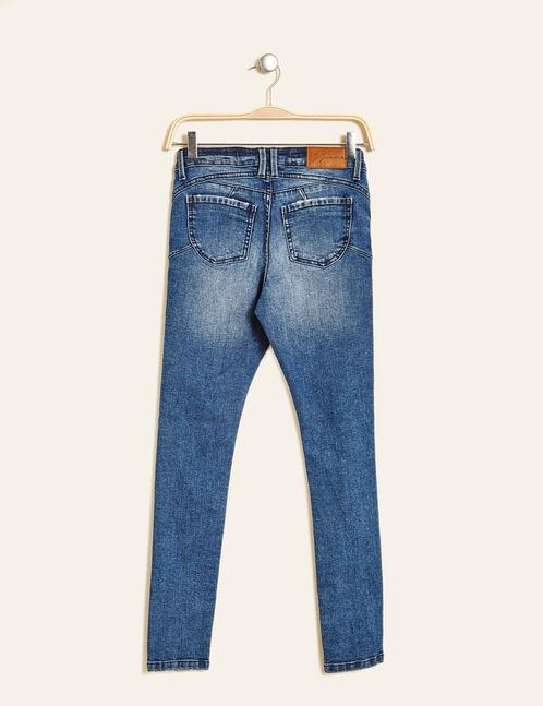 Medium blue distressed push-up jeans