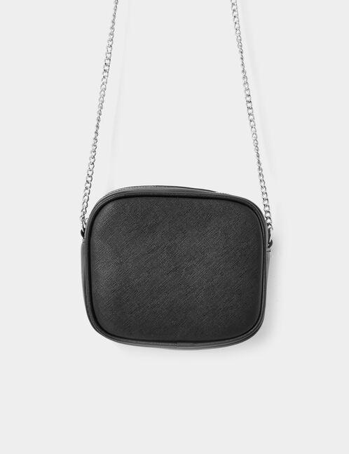 Black textured clutch