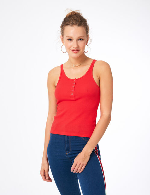 Women's tank top with press-stud detail