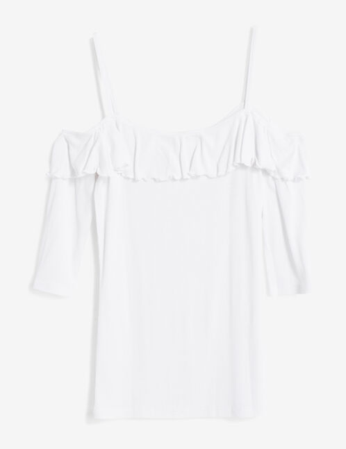 White top with frill detail