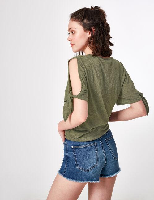 tee-shirt feminist kaki