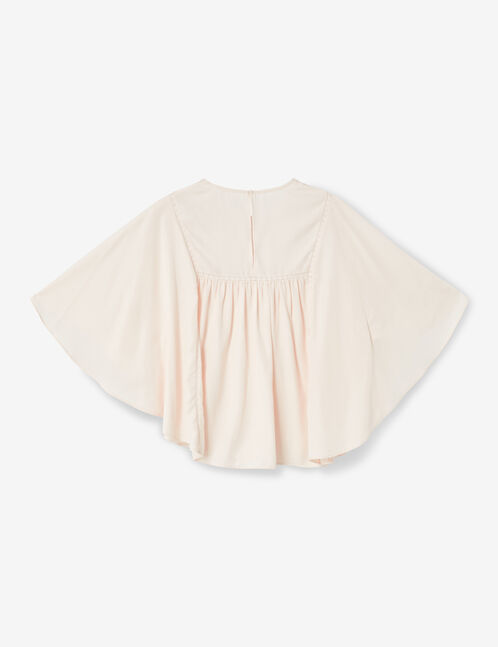 Light pink blouse with lace detail