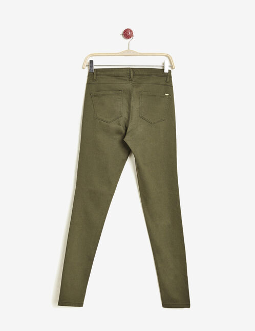 pantalon super skinny kaki