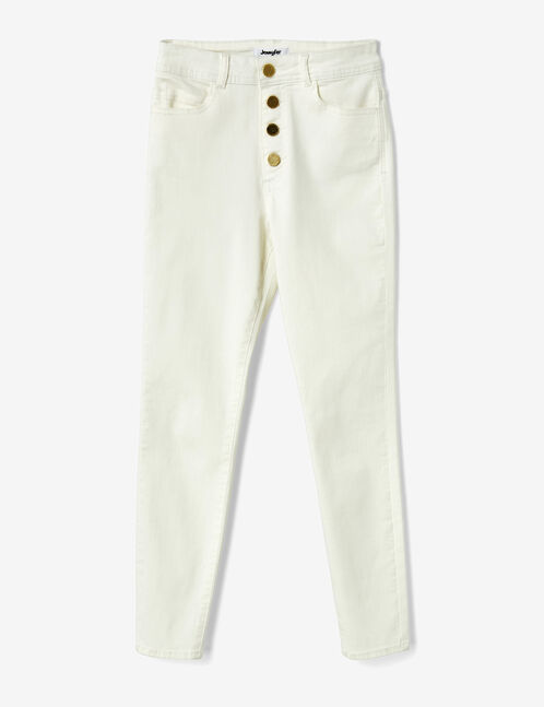 Cream high-waisted trousers