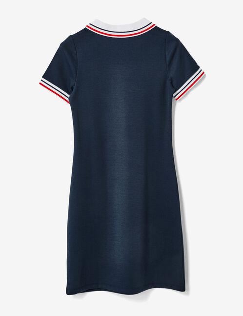 robe polo zippée bleu marine