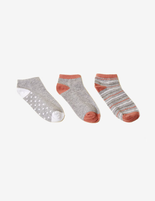 Grey and white patterned socks