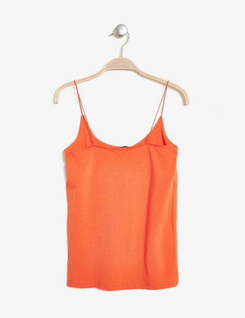 Orange tank top with spaghetti straps