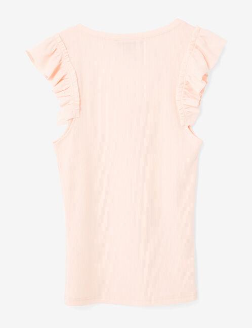 Light pink frilled tank top