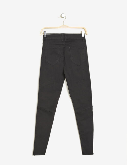 Black biker trousers