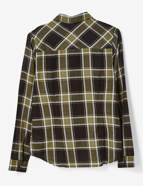 Basic khaki and cream checked shirt