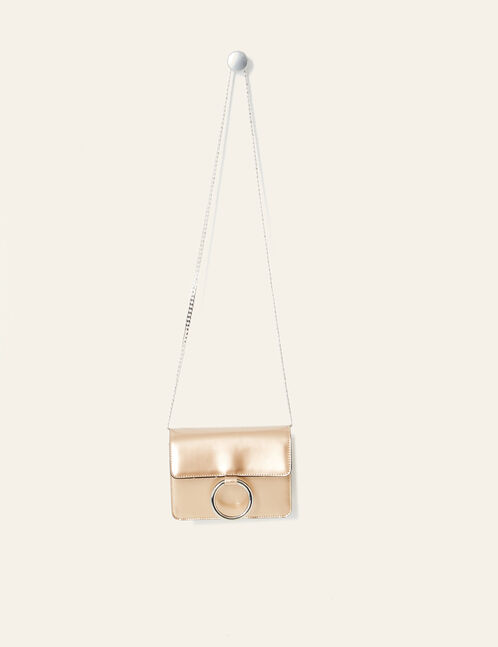 Small beige iridescent bag