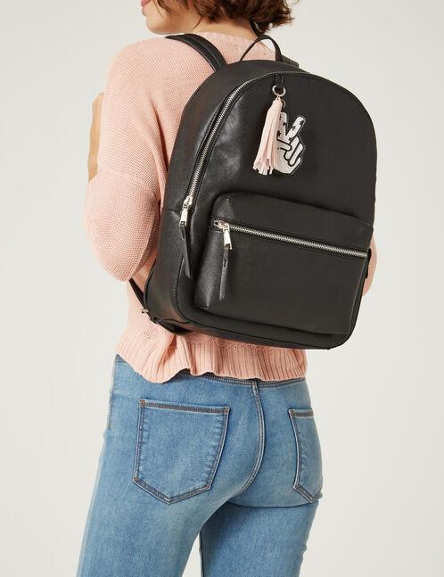 sac à dos strié noir