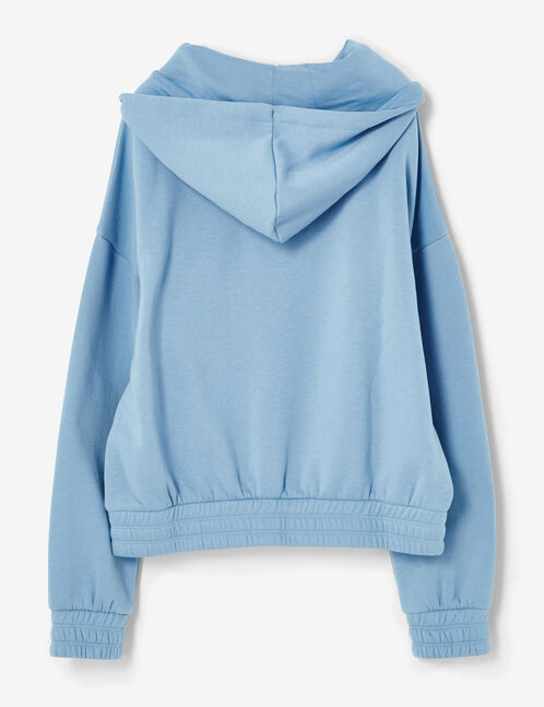 """Light blue """"you can't stop me"""" hoodie"""