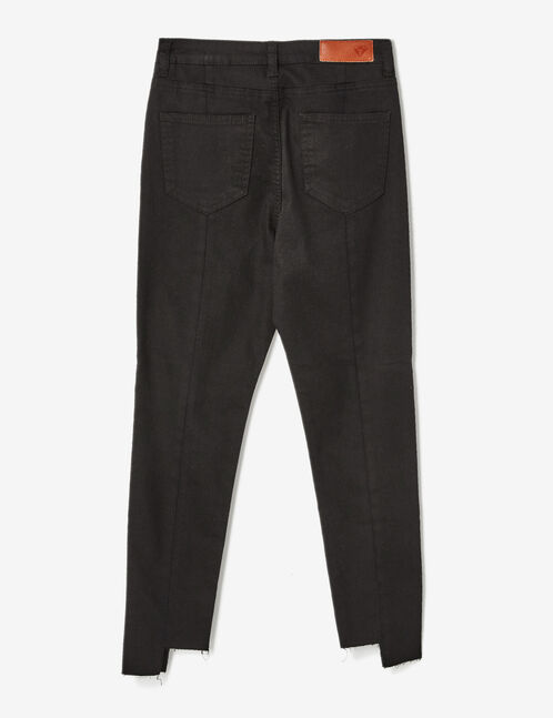 Black trousers with seam detail