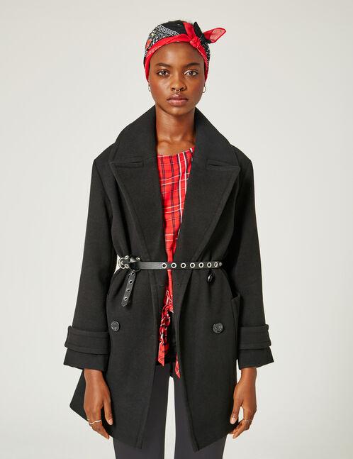 veste caban noir