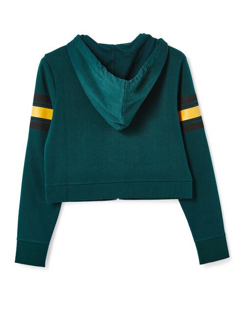 sweat zippée court vert