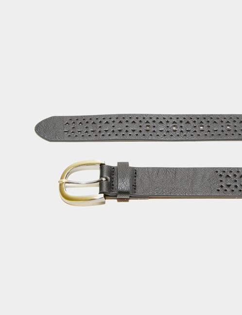 Black perforated belt