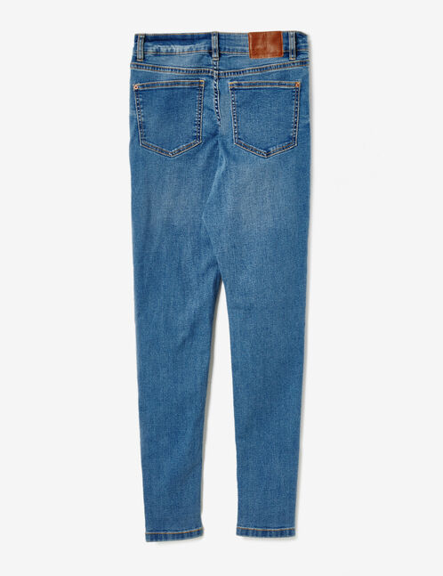 Blue high-waisted super skinny jeans