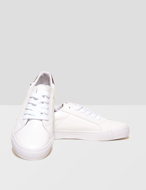 White studded trainers