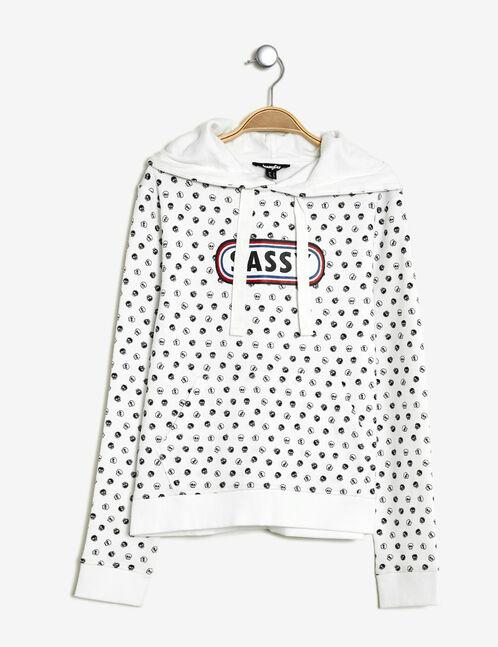 Cream print sweatshirt