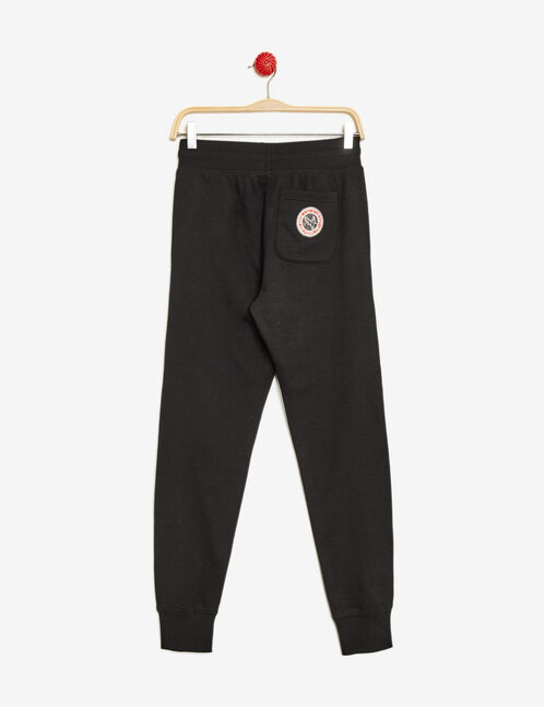 Black joggers with patch detail