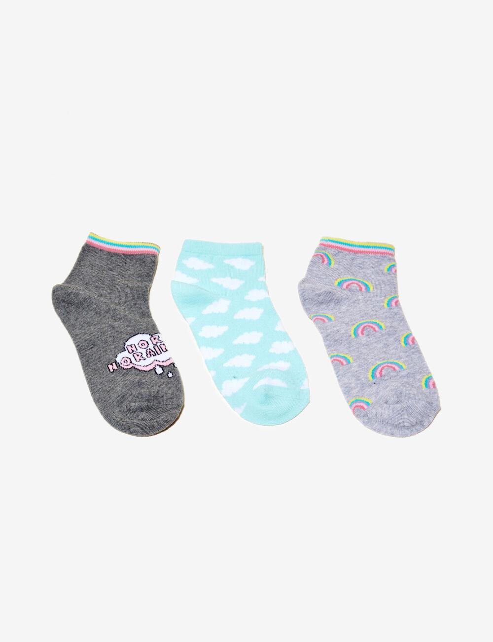 chaussettes fantaisies gris chin et mutlicolore femme. Black Bedroom Furniture Sets. Home Design Ideas