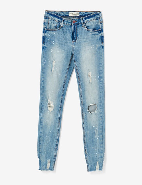 jean skinny destroy medium blue