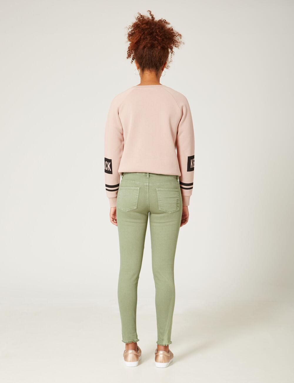 pantalon skinny d coupes kaki clair femme jennyfer. Black Bedroom Furniture Sets. Home Design Ideas