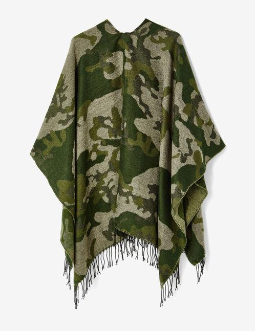 Khaki camouflage cape