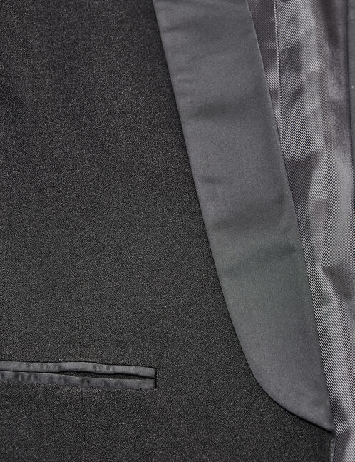 blazer avec col satiné noir