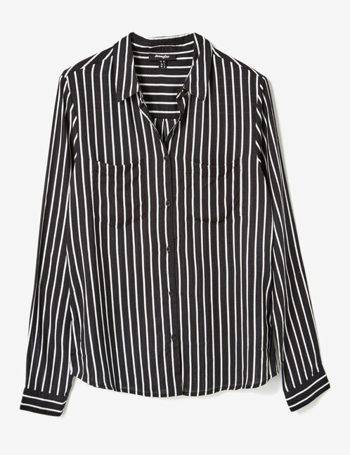 Black and white striped shirt
