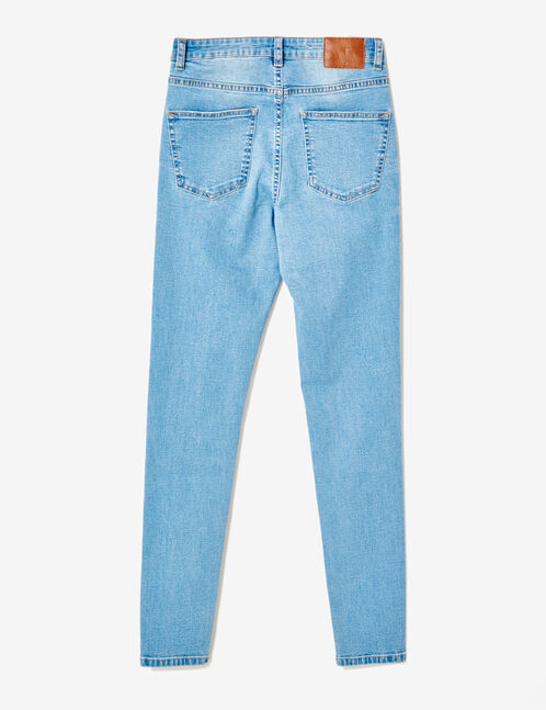 Light blue high-waisted super skinny jeans