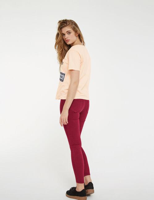 Light pink mixed print T-shirt
