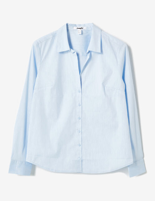 Light blue fitted shirt