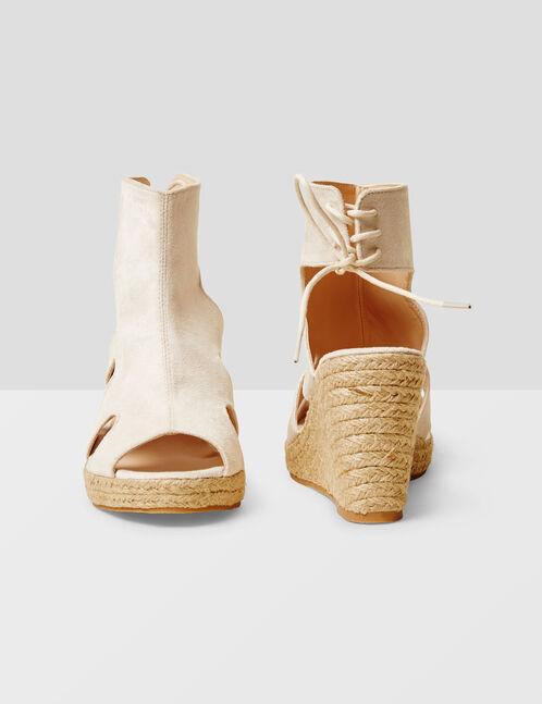 sandales compensées nude